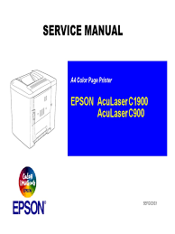 epson aculaser c900 c1900 parts and service manual printer