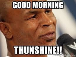 Good Morning Meme - good morning thunshine mike tyson 3000 meme generator