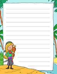 writing papers for kids tim van de vall comics printables for kids a blank sheet of writing paper for kids with a pirate theme