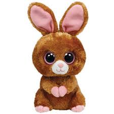 ty beanie boos hopson brown bunny solid eye color medium