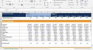 monthly cash flow modeling in excel fp u0026a course