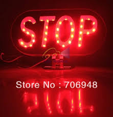 stop sign with led lights diy motorcycle led brake light stop sign waterproof in indicator