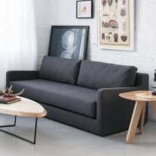 awesome beautifull purple modern sofa bed in pure white space plus