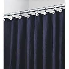 amazon com mdesign hotel style fabric shower curtain extra long
