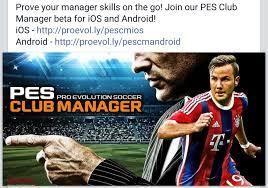 new game pes club manager beta download link apk u0026 obb files