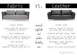 Fabric Or Leather Sofa Home Decor The Glamorous Home