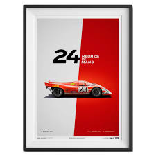 porsche 917 art unique limited poster u2013 porsche 917 le mans 1970