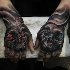 collection of 25 skull hand tattoo