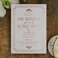 art deco wedding invitations ebay