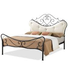 Full Platform Bed With Headboard Baxton Studio Alanna Full Size Shabby Chic Metal Platform Bed With