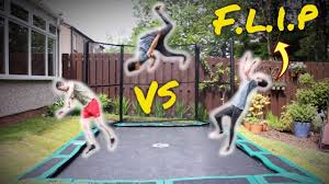 game of f l i p on the best garden trampoline so bouncy youtube