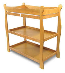 Sleigh Style Changing Table Badger Basket Honey Sleigh Style Baby Changing Table