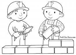 printable bob builder wendy coloring pages kids
