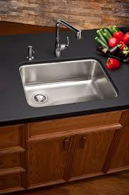 kitchen stainless steel elkay sinks with dark granite top aso