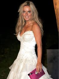 wedding dress raisa geri halliwell wows in white wedding dress at raisa gorbachev