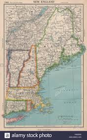 New England Foliage Map by New England Connecticut Massachusetts Vermont Nh Maine Ri Stock