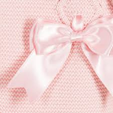 satin ribbon bows tot baby pink knitted cardigan with satin ribbon bows