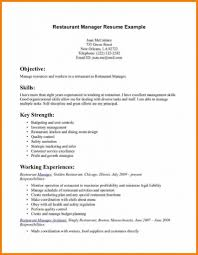Resume Template For Restaurant Manager Smartness Ideas Restaurant Resume Templates 15 7 Resume Example