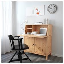 Computer Desk Bureau Hemnes Bureau Light Brown 89x108 Cm Ikea