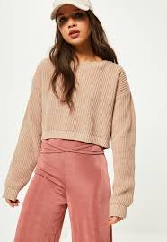 camel basic cropped sweater missguided