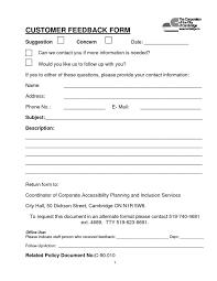 feedback questionnaire template eliolera com