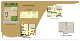 Row Houses Floor Plans Gold Ember Amber A Project By Ujwal Homes Row Houses In Dhayari