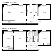 plan appartement 3 chambres plan appartement 60m2 2 chambres