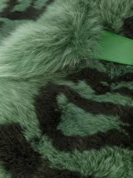 fendi green and black fox fur scarf scarves browns fashion