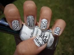 black white monochrome nail art design for beginners diy easy 40