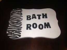 zebra bathroom door sign the stuff i actually tried pinterest
