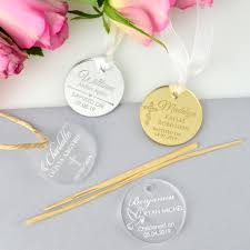 baptism engraving engraved acrylic circle christening gift tags gift tags for