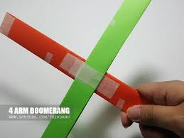 How Do You Make A Paper Boomerang - how to make an easy paper boomerang that come back to you 4 arm