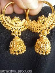 fancy jhumka earrings indian ethnic jhumka jhumki dangle 22k gold plated bali