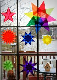 How The Sun Rose Waldorf Paper Window Star Tutorial Diy Crafts