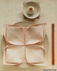 napkin folding ideas martha stewart lotus napkin fold