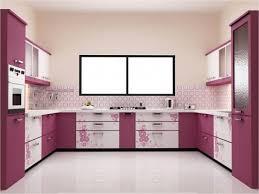 U Shaped Small Kitchen Designs Modular Kitchen Designs U Shaped In Purple For Small Kitchens