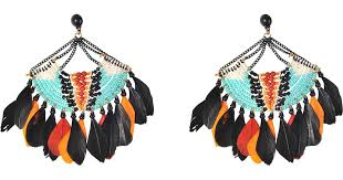 gas earrings lyst gas bijoux stephania feather earrings