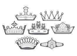 design simple crowns vector set free