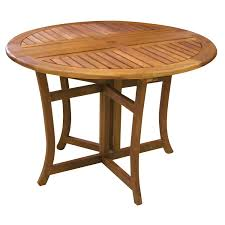amazon com eucalyptus 43 inch round folding deck table garden