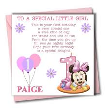 personalised minnie daughter granddaughter babies first 1st