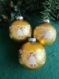 vintage shiny brite mercury glass stenciled glitter santa sleigh