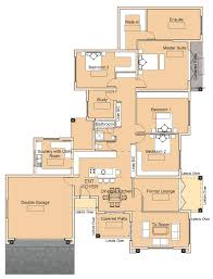 house plan with master suite with en suite and walk in closet 2