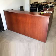 Wood Reception Desk Advanced Liquidators