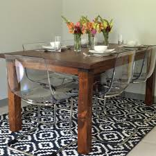 dining room table and chairs ikea coleman catering tasting room using reclaimed wood for our rustic