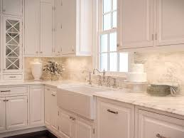 Marble Mosaic Backsplash Tile by Download White Kitchen Backsplash Waterfaucets