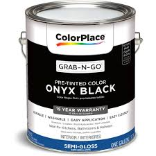 colorplace grab n go onyx black interior paint with duck brand