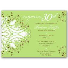 andromeda green surprise 30th birthday invitations paperstyle