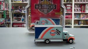 gulf racing truck gulf oil international durastar box truck 1 64 diecast by