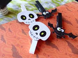 halloween themed decorative clothespins bat u0026 skull decor