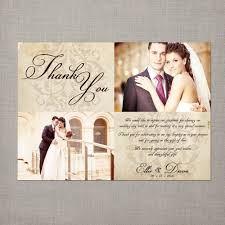 modern ideas thank you wedding cards with couple photo